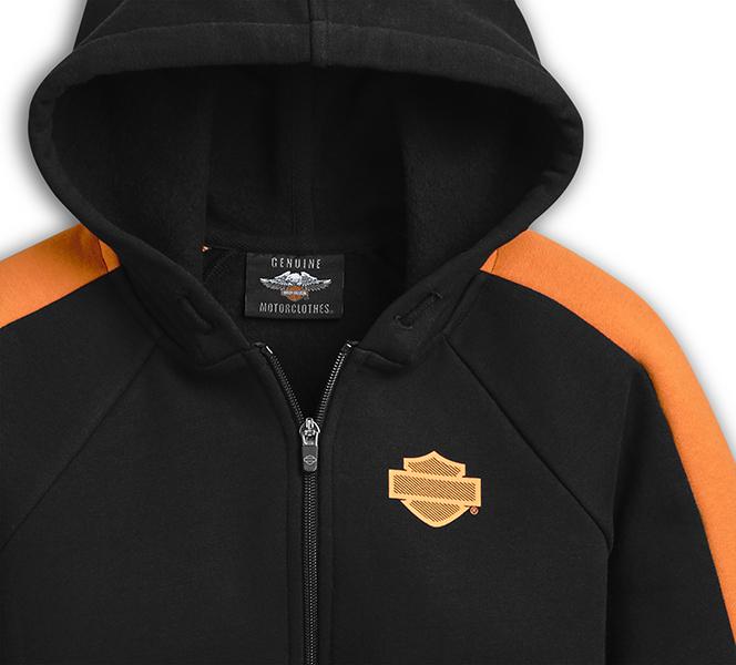 Colorblock Zip-Front Hoodie