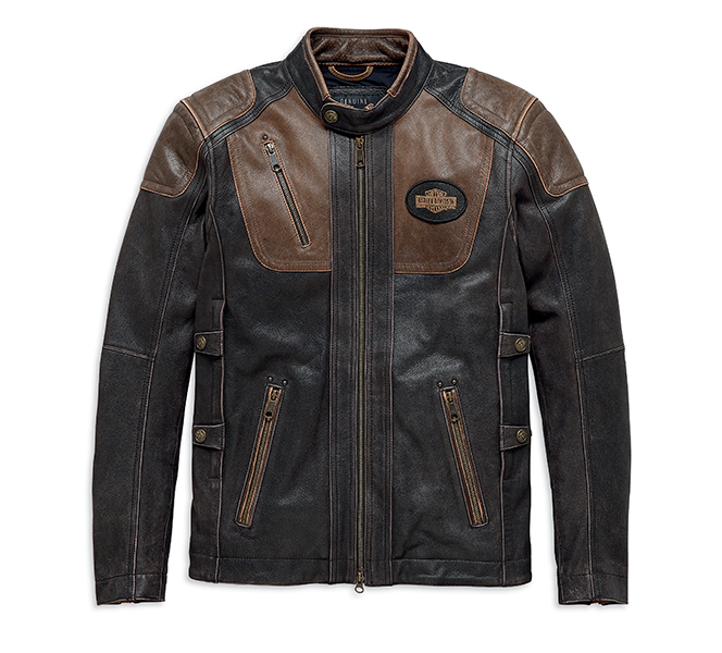 H-D Triple Vent System Trostel Leather Jacket