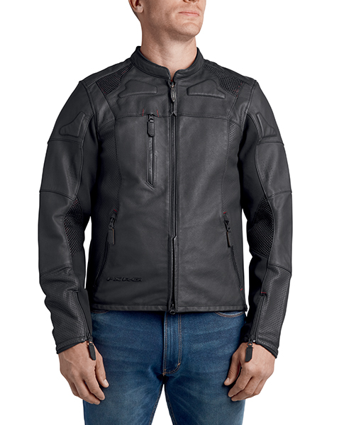 FXRG Perforated Slim Fit Leather Jacket