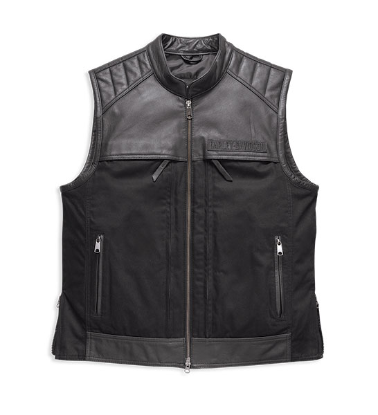 Synthesis Pocket System Leather/Textile Vest