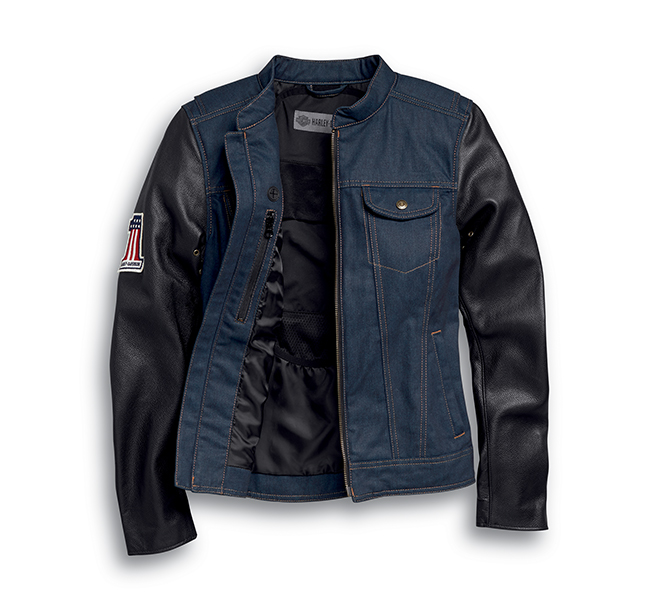 Arterial Abrasion-Resistant Denim Riding Jacket