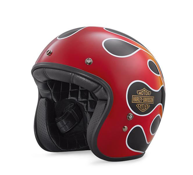 Retro Flame 3/4 Helmet
