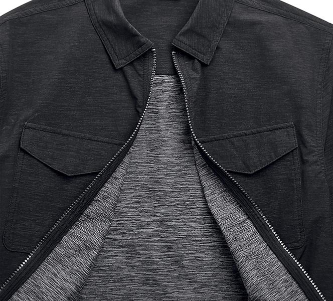 Zip-Front Stretch Shirt