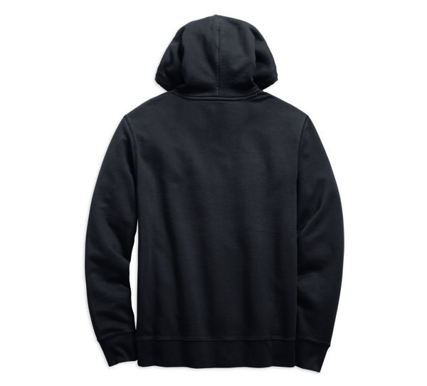 Felt Patch Slim Fit Pullover Hoodie