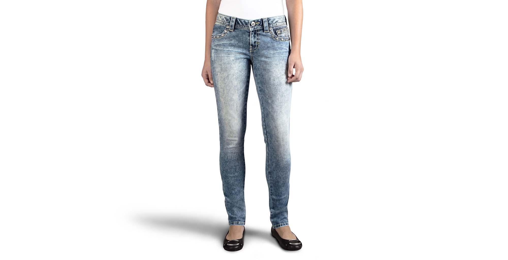 Skinny Embellished Low-Rise Jean