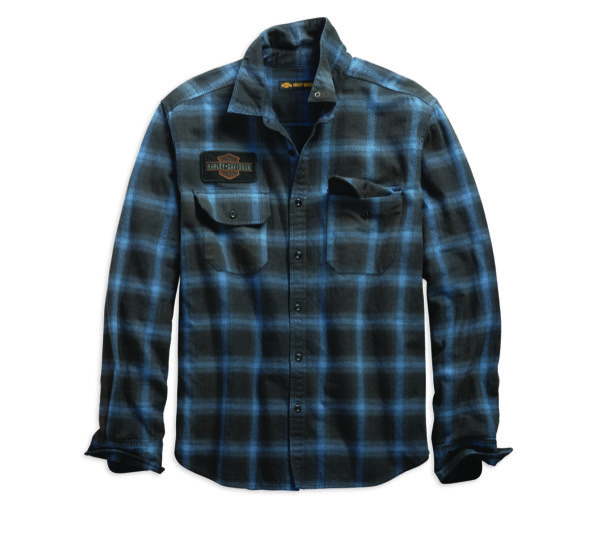 Plaid Oak Leaf Slim Fit Shirt